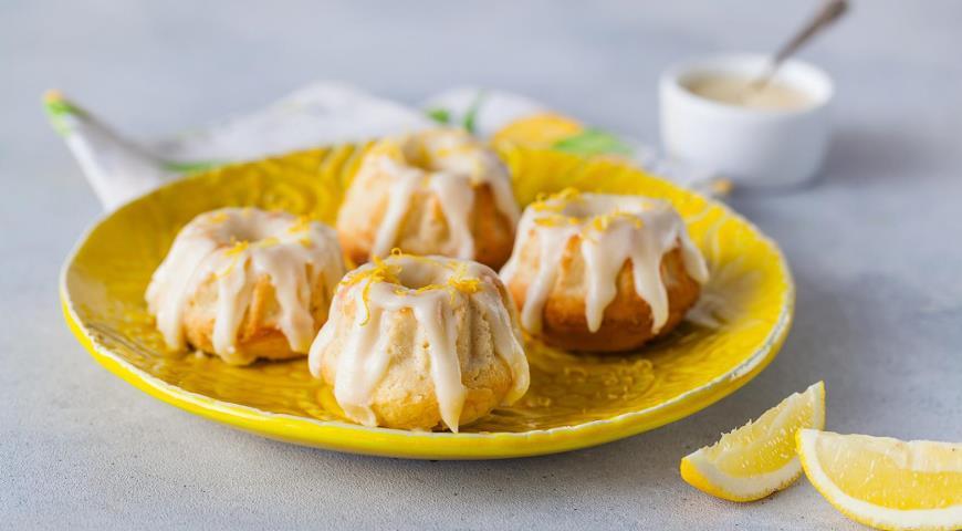 Лимонные кексы с глазурью из сливочного сыра