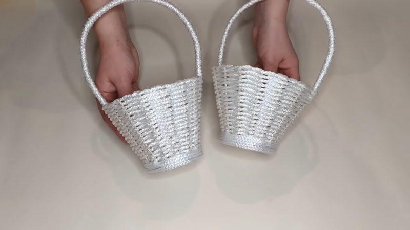 Красивая корзина из веревки: плетём легко и с удовольствием