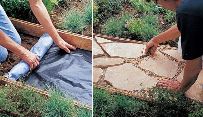 Блестящая идея создания садовой дорожки, подсмотренная у одного мастера