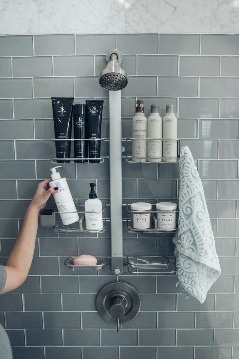 25 блестящих идей для ванной, как красиво и компактно хранить вещи