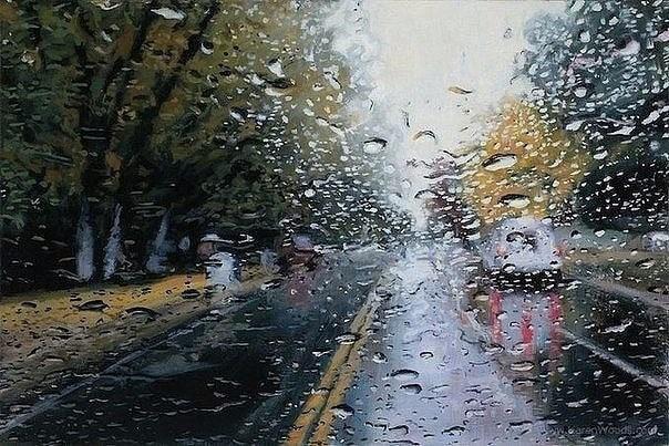 Художник, который рисует дождь: реалистичная живопись Грегори Тилкера