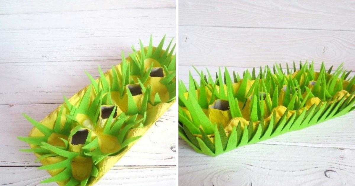 Что сделать к праздникам из лотка из-под яиц