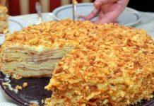 Рецепт постного «Наполеона» на пенном и без яиц