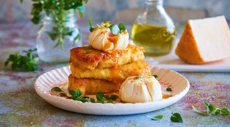 Пшенная каша с яйцом-пашот и сыром