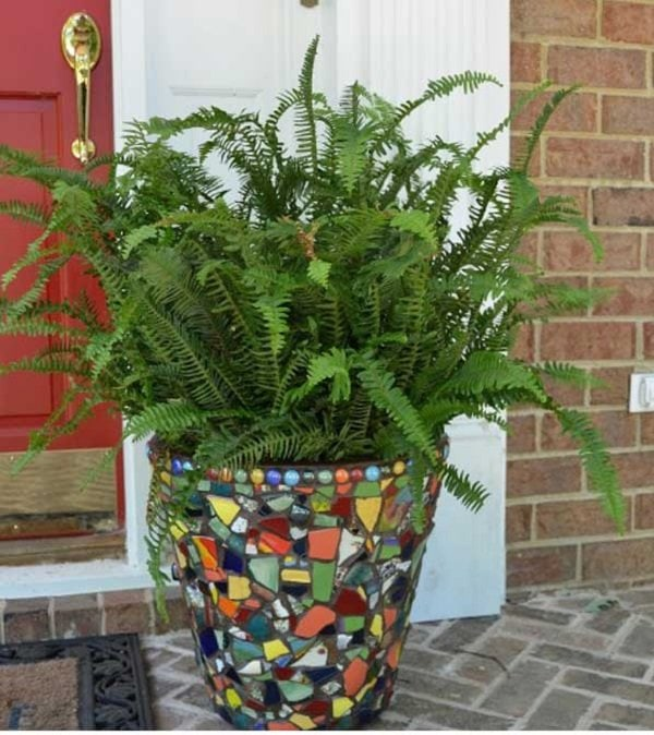 Стильный сад: интересные идей мозаики для сада