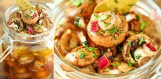 Шампиньоны по-итальянски с горчицей и чесноком: и закуска, и ингредиент в салат