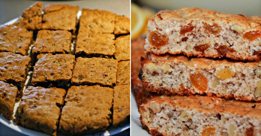 Печенье «Мазурка»: много изюма, орехов и самая малость муки. Хрустящая выпечка к чаю!