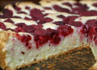 Как приготовить пирог с творогом и замороженными ягодами
