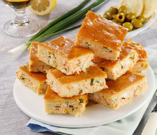 Оригинальный рыбный пирог: начинка добавляется прямо в тесто!